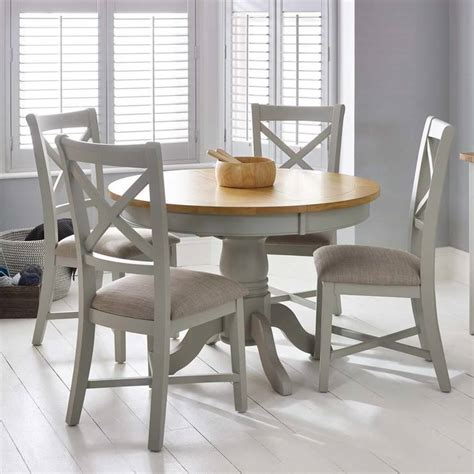 bordeaux painted light grey  extending dining table  chairs seats   costco uk