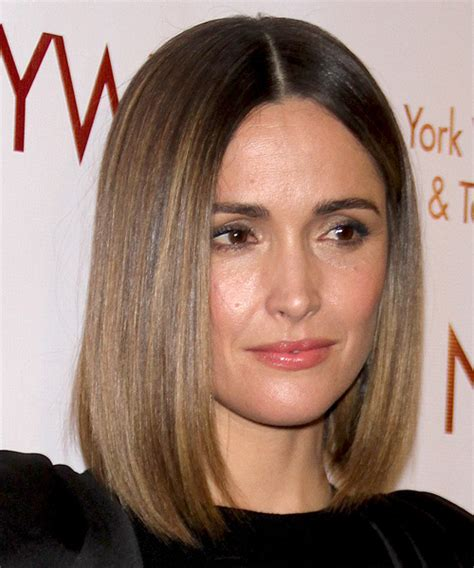 rose byrne formal medium straight bob hairstyle ash