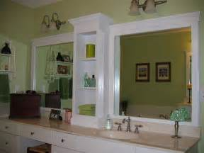 bathroom mirror trim ideas changing a large bathroom mirror without removing the mirror pinpoint