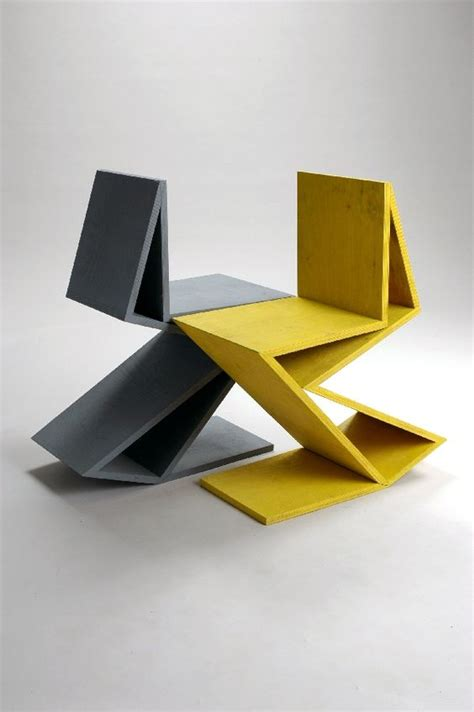 remix gerrit rietveld chair quot zig zag quot by kateryna sokolova