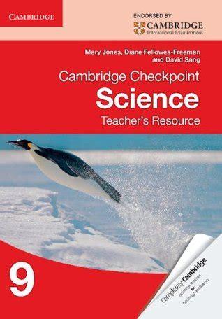 cambridge checkpoint science  workbook answers mary jones