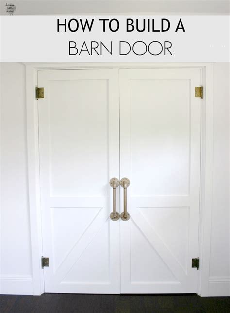 How To Frame A Barn Door by How To Build A Barn Door Book Design
