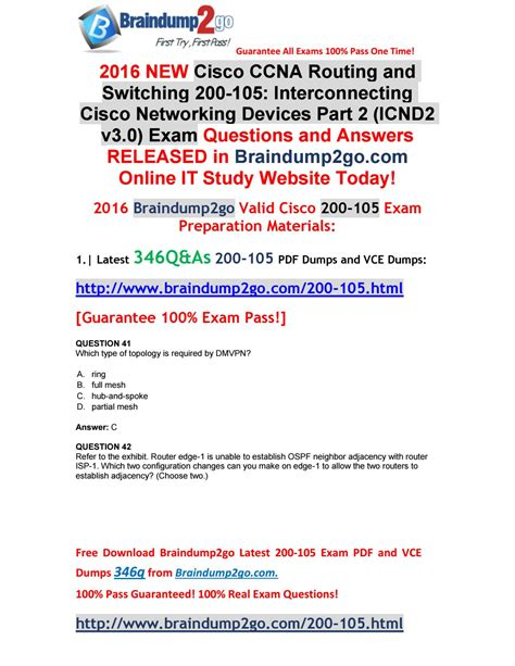 [100% Valid!]new Ccna 200105 Questions And Answers 346q
