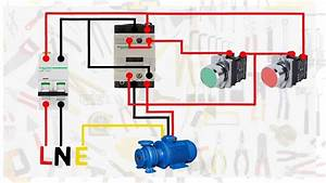 Single Phase Motor Connection With Magnetic Contactor