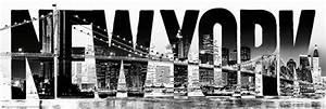 New York Schriftzug : poster new york schriftzug skyline brooklyn bridge usa ebay ~ Frokenaadalensverden.com Haus und Dekorationen