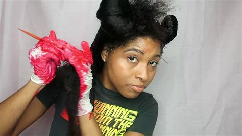 How To Dyecolor Natural Hair Black To Red Tutorial No