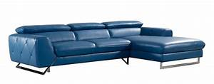 2 piece devon modern blue leather sectional With blue 2 piece sectional sofa