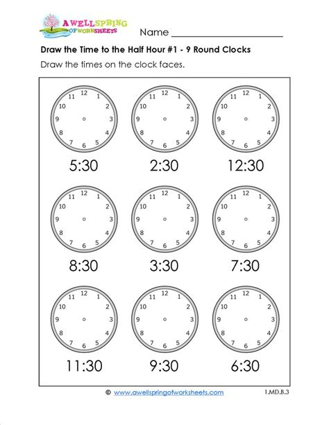 telling time worksheets for first grade include telling