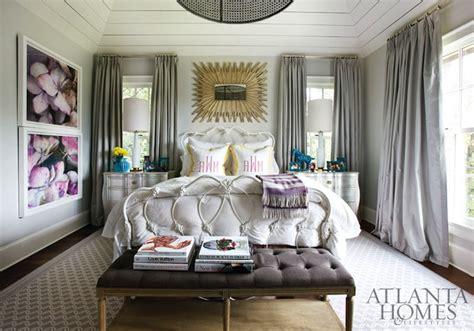 gray curtains contemporary bedroom atlanta homes