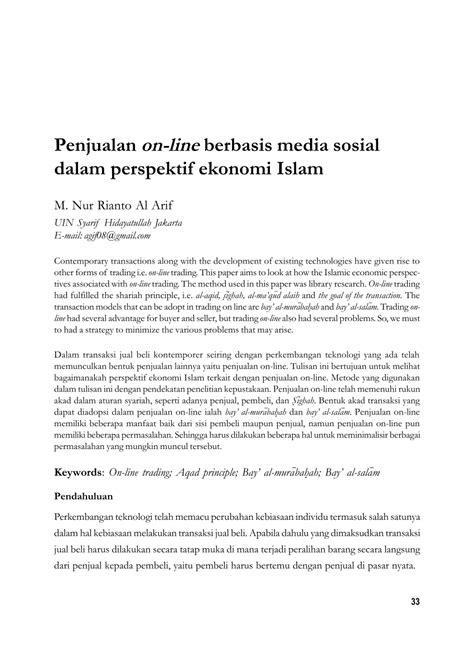 (PDF) Penjualan on-line berbasis media sosial dalam
