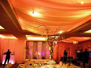 Ceiling decorations for wedding reception emerson design for Ceiling streamers for a wedding