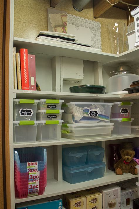 narrow sofa organizing my storage area on a budget i planners