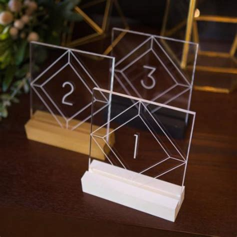 how to make numbers for wedding reception acrylic numbers for wedding z create design