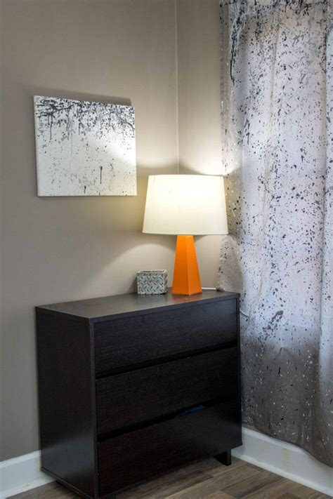 diy splatter paint curtains favecrafts