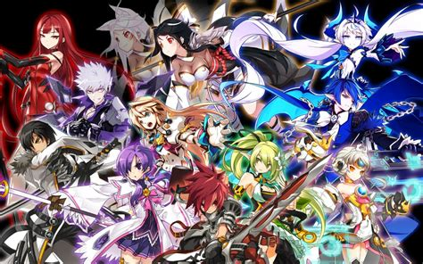 elsword anime character elsword all characters combo and superskill
