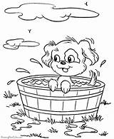 Dog Coloring Puppy Pages Printable Dogs Animal Animals Bucket Bath Prairie Printables Pup Taking Colouring Sheets Books Raisingourkids Colour Printing sketch template