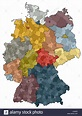 map of germany - federal states and counties Stock Photo ...