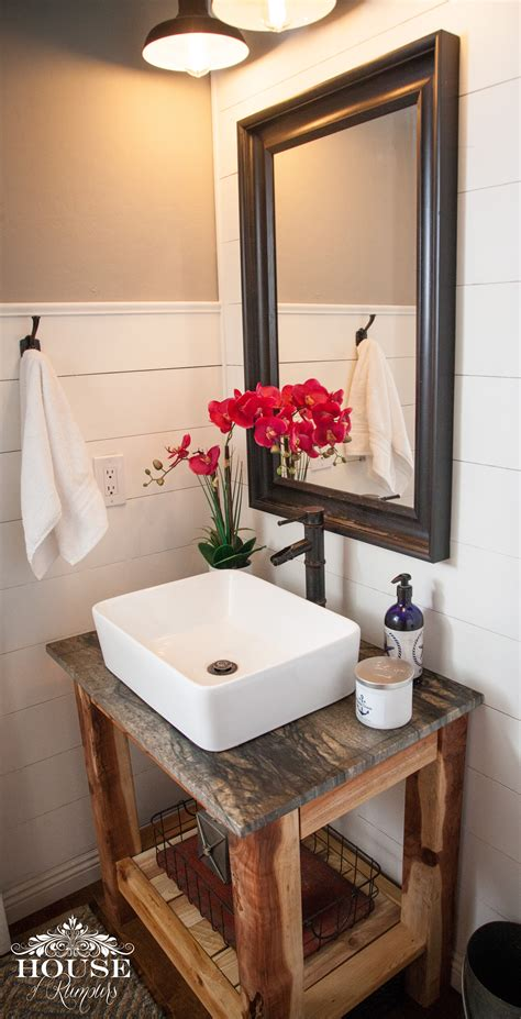 Shiplap Powder Room Diy Vanity House Of Rumours