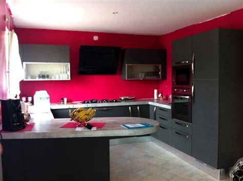 cuisine couleur mur mur noir cuisine