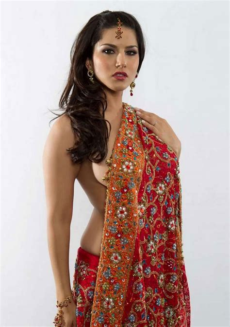 Sunny Leone In Red Saree Hot Photoshoot Bollywood Chuchpa