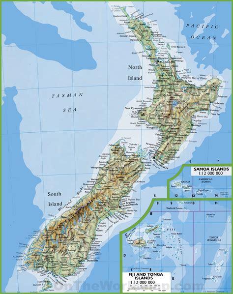 map   zealand  cities  towns