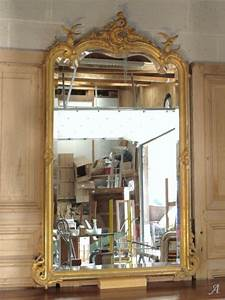 Miroir Doré Ancien : miroir ancien de style louis xv dor artisans du patrimoine ~ Teatrodelosmanantiales.com Idées de Décoration