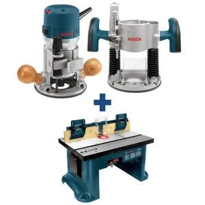 bosch  amp   hp variable speed plunge  fixed base