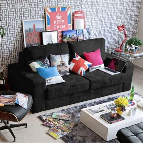 sofá eureka suede é bom decorar salas sof 225 preto modelos e 40 fotos m 211 veis