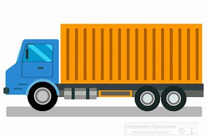 Truck Clipart Container Transportation Clip Graphics Bed