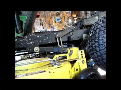 john deere lx 176 mower deck removal youtube