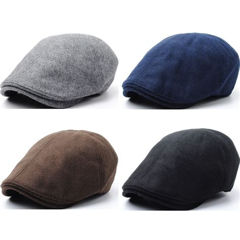 new warm wool simple basic style design newsboy flat cap golf hat gatsby ebay