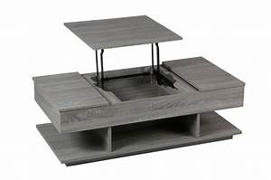 Table De Salon Modulable : table basse avec rangement ~ Teatrodelosmanantiales.com Idées de Décoration