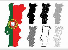Portugal Map Set Download Free Vector Art, Stock