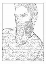 Beards sketch template