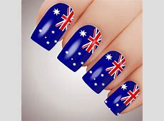 AUSSIE FLAG Australia Day Nail Decal Water Transfer