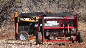 Dueling Generators Homelite 5000 Versus Generac Gp5500