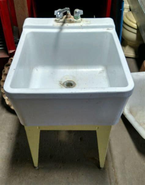 porcelain laundry utility sink reclaimed vintage crane porcelain laundry sink w washboard