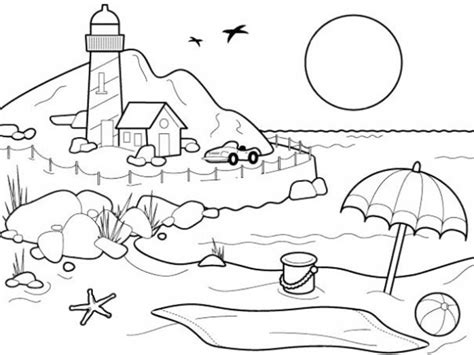 Coloring Pemandangan by Pemandangan Pantai Program Sarpras Coloring