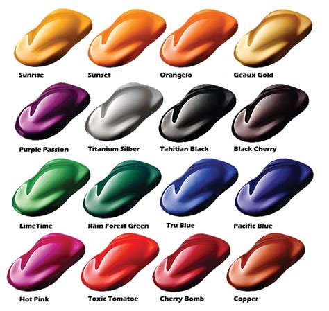 Custom Candy Car Paint Colors,candy Paint Pearls