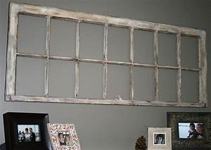 Old flaky repurposed window frame wall art