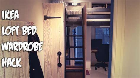 ikea hack loft bed  wardrobe cabinet chalk paint finish youtube