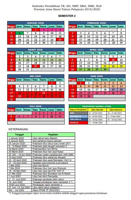 kalender pendidikan semester      smkpgricimahi