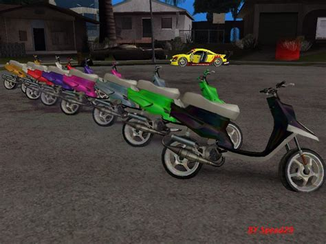 yamaha mbk booster spirit pack gta san andreas scooter