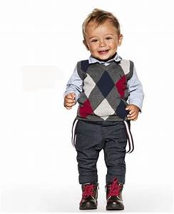Holiday outfit for little boys: Cute sweater vest but it's ...
