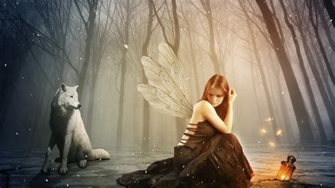 beautiful girl  wings  wolf wallpaper  baltana