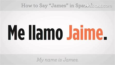 """How To Say """"james""""  Spanish Lessons Youtube"""