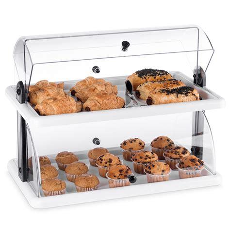 layer rectangular acrylic countertop bakery display