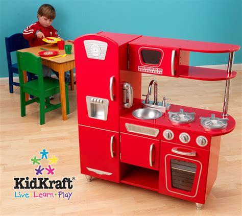 red vintage retro kitchen pretend play set kids kidkraft