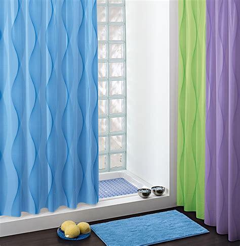 rideau de 240 rideau de pvc vague bleu l 240 cm bainissimo