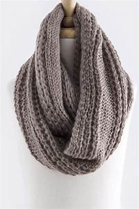 Cable Knit Infinity Scarf in Mocha – Sweater Weather Co ...